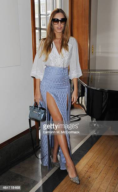Amber Le Bon attends the Temperley show during London Fashion Week Fall/Winter 2015/16 at RIBA on February 22 2015 in London England
