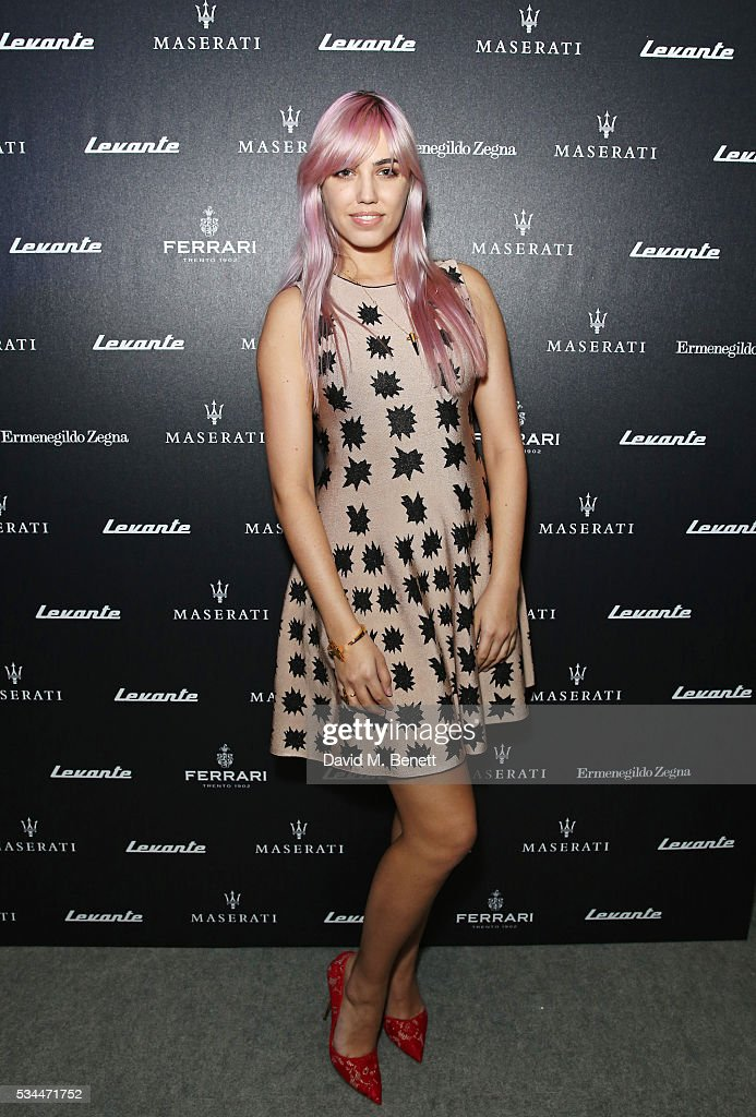 <a gi-track='captionPersonalityLinkClicked' href=/galleries/search?phrase=Amber+Le+Bon&family=editorial&specificpeople=1103030 ng-click='$event.stopPropagation()'>Amber Le Bon</a> attends the UK VIP reveal of the Maserati Levante SUV at The Royal Horticultural Halls on May 26, 2016 in London, England.