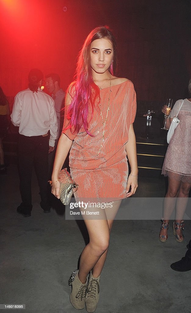 Amber Le Bon attends the Warner Music Group Pre-Olympics Party in the Southern Tanks Gallery at the Tate Modern on July 26, 2012 in London, England
