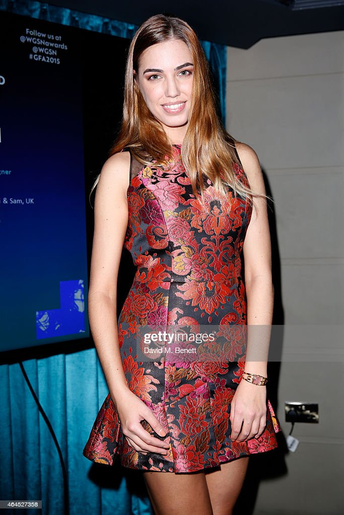 Amber Le Bon attends The WGSN Global Fashion Awards 2015 Shortlist Announcement Reception at Le Peep Boutique on February 26 2015 in London England