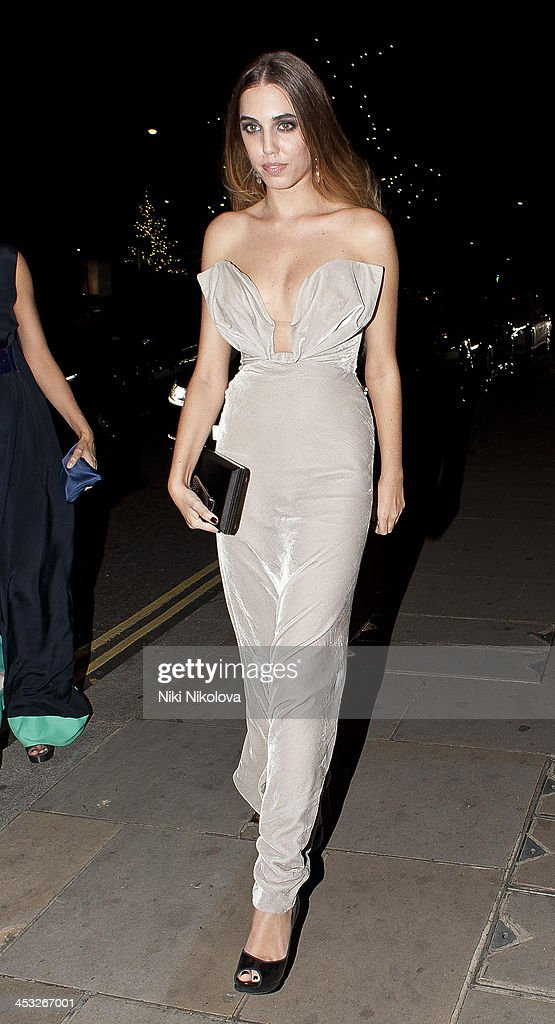 Amber Le Bon is sighted leaving Playboy Club London following the official Playboy 60th Anniversary Issue Party on December 2, 2013 in London, England.