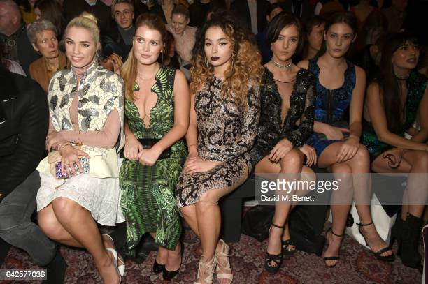 Amber Le Bon Lady Kitty Spencer Ella Eyre Eliza Cummings and Charlotte Wiggins attend the Julien Macdonald show during the London Fashion Week...