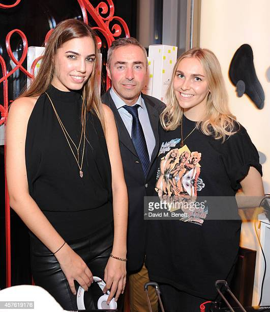 Amber Le Bon Laurent Reinteau and Becky Tong attend the 50th Anniversary of Champagne Jacquart at Sushi Samba on October 21 2014 in London England