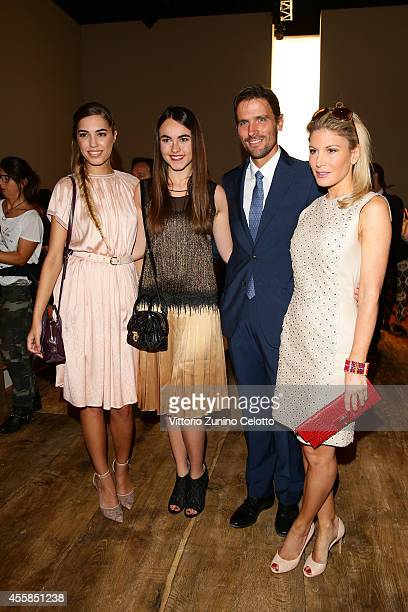 Amber Le Bon Melusine Ruspoli James Ferragamo and Hofit Golan attend the Salvatore Ferragamo during the Milan Fashion Week Womenswear Spring/Summer...