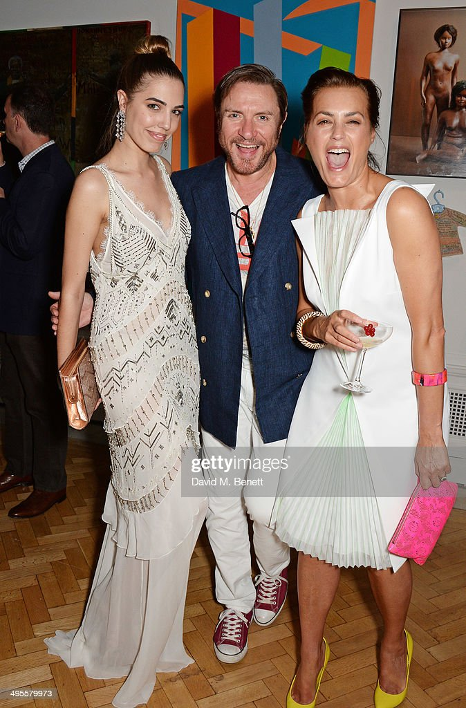 Amber Le Bon Simon Le Bon and Yasmin Le Bon attend the Royal Academy Summer Exhibition preview party at the Royal Academy of Arts on June 4 2014 in...