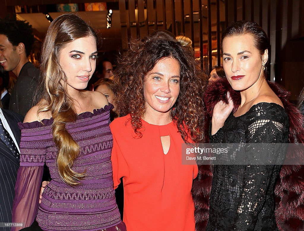 Amber Le Bon, Tara Smith and Yasmin Le Bon attend the launch of the Salvatore Ferragamo London Flagship Store on Old Bond Street on December 5, 2012 in London, England.