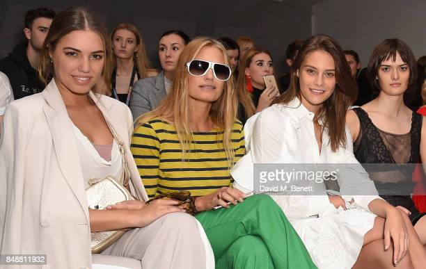 Amber Le Bon Yasmin Le Bon Charlotte Wiggins and Sam Rollinson attend the Antonio Berardi catwalk show during London Fashion Week at BFC Presentation...