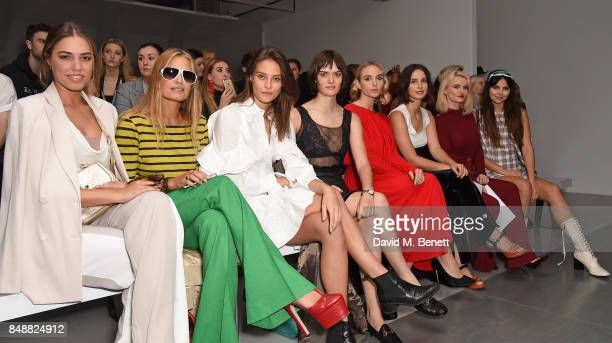 Amber Le Bon Yasmin Le Bon Charlotte Wiggins Sam Rollinson guest Heida Reed Grace Chatto and Doina Ciobanu attend the Antonio Berardi catwalk show...