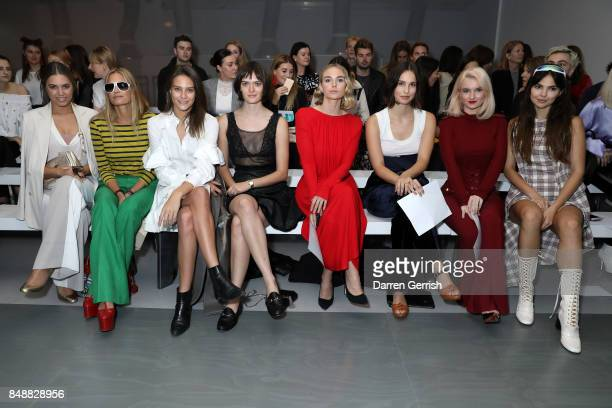 Amber Le Bon Yasmin Le Bon Charlotte Wiggins Sam Rollinson Joanna Vanderham Heida Reed Grace Chatto and Doina Cioban attend the Antonio Berardi show...