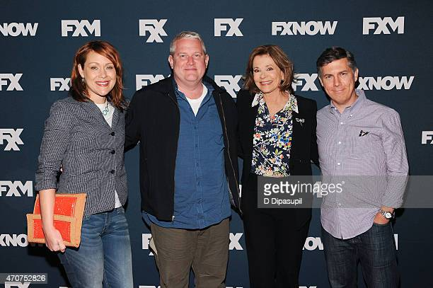 Amber Nash Adam Reed Jessica Walter and Chris Parnell attend the 2015 FX Bowling Party at Lucky Strike on April 22 2015 in New York City