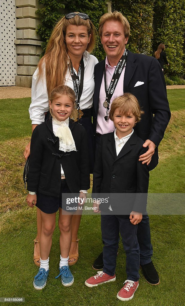 Amber Nuttall, Alistair Gosling and kids attend The Cartier Style et Luxe at the Goodwood Festival of Speed at Goodwood on June 26, 2016 in Chichester, England.