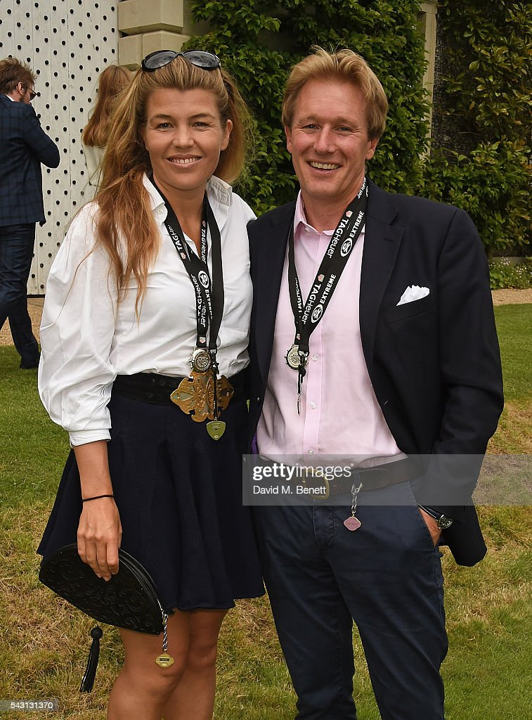 Amber Nuttall and Alistair Gosling attend The Cartier Style et Luxe at the Goodwood Festival of Speed at Goodwood on June 26, 2016 in Chichester, England.