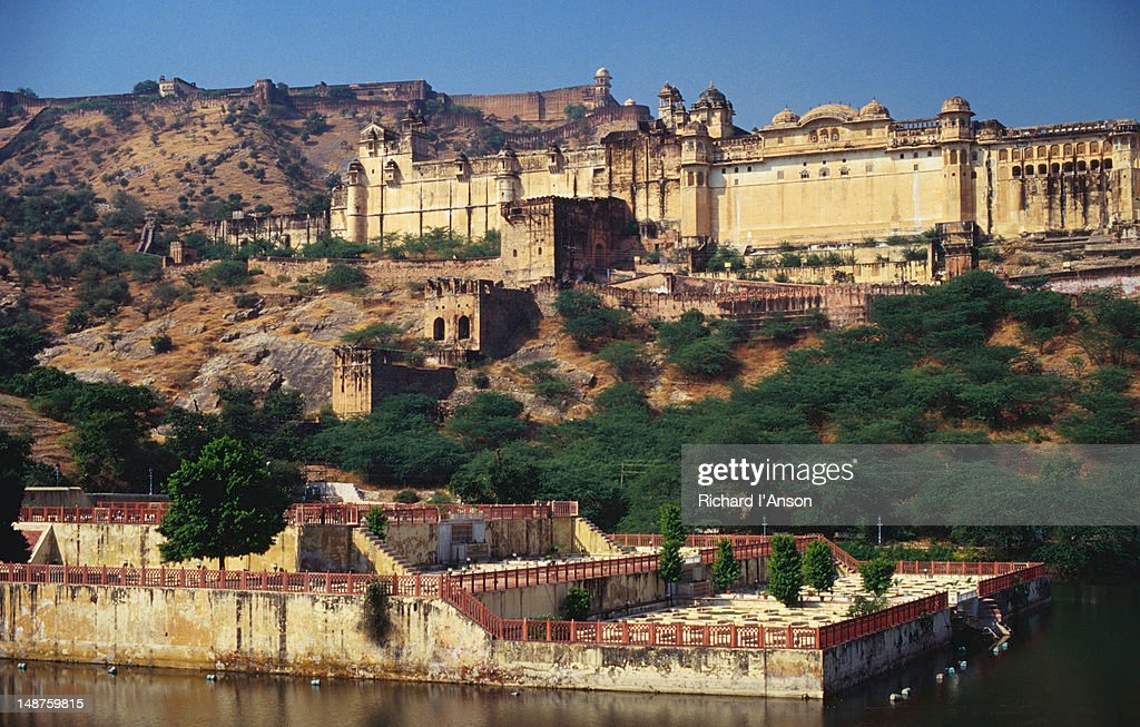 Amber Palace and Fort. : Stock Photo