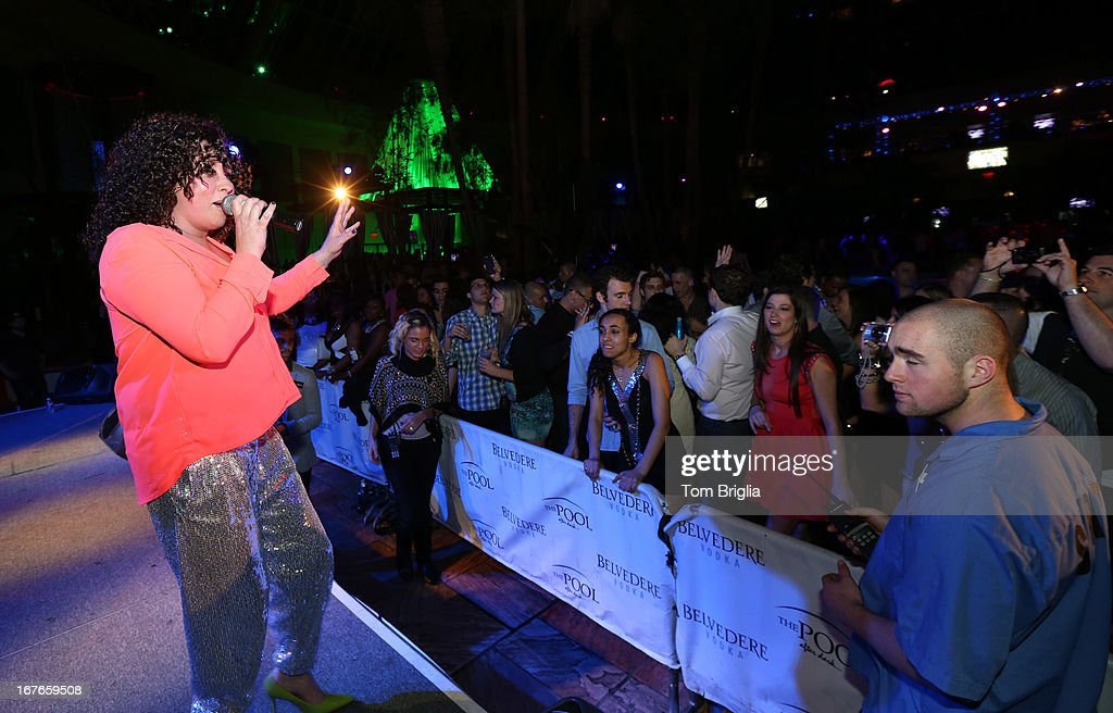 Amber performs at The Pool After Dark at Harrah's Resort on Friday April 26, 2013 in Atlantic City, New Jersey.
