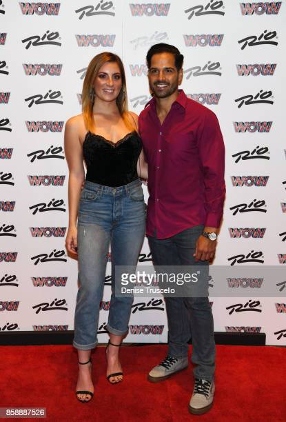 Amber Ramsay and Ricardo Laguna arrive at 'WOW WORLD OF WONDER' premiere at Rio AllSuite Hotel Casino on October 7 2017 in Las Vegas Nevada