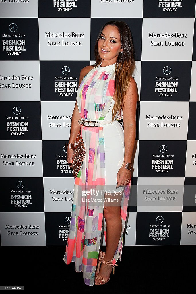 Amber Renae at the MBFWA Trends show after party during Mercedes-Benz Fashion Festival Sydney 2013 at Sydney Town Hall on August 21, 2013 in Sydney, Australia.
