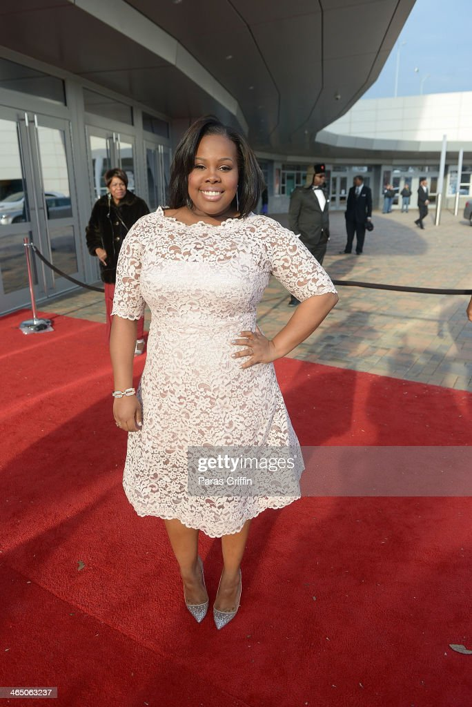 <a gi-track='captionPersonalityLinkClicked' href=/galleries/search?phrase=Amber+Riley&family=editorial&specificpeople=5662111 ng-click='$event.stopPropagation()'>Amber Riley</a> arrives at the 2014 Trumpet Awards at Cobb Energy Performing Arts Center on January 25, 2014 in Atlanta, Georgia.