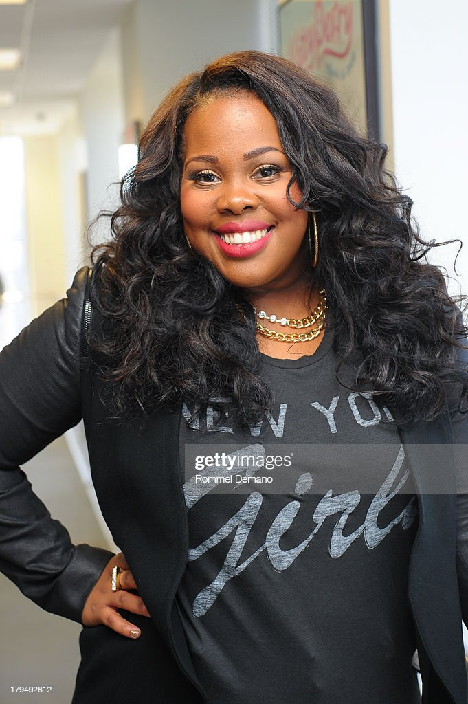 <a gi-track='captionPersonalityLinkClicked' href=/galleries/search?phrase=Amber+Riley&family=editorial&specificpeople=5662111 ng-click='$event.stopPropagation()'>Amber Riley</a> visits SiriusXM Studios on September 4, 2013 in New York City.