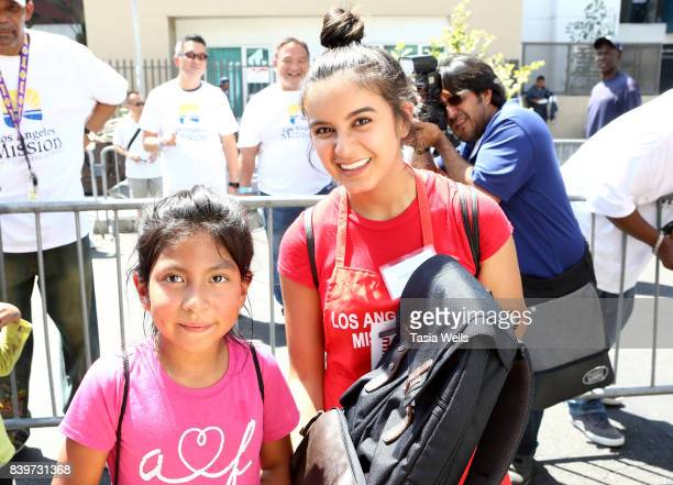 Amber Romero at the Los Angeles Mission's End of Summer Arts and Education Fair at Los Angeles Mission on August 26 2017 in Los Angeles California
