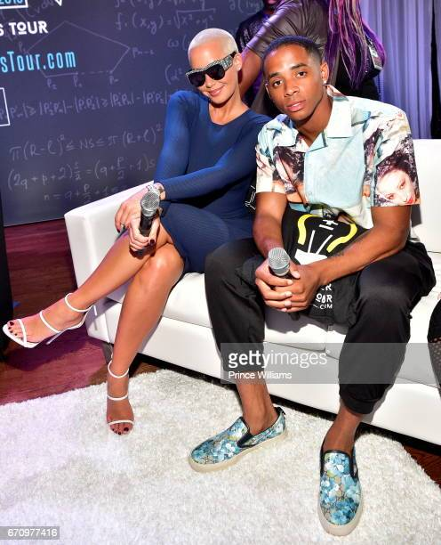 Amber Rose and Cordell Broadus attend 'KYST' Know Your Status at Clark Atlanta University on April 20 2017 in Atlanta Georgia