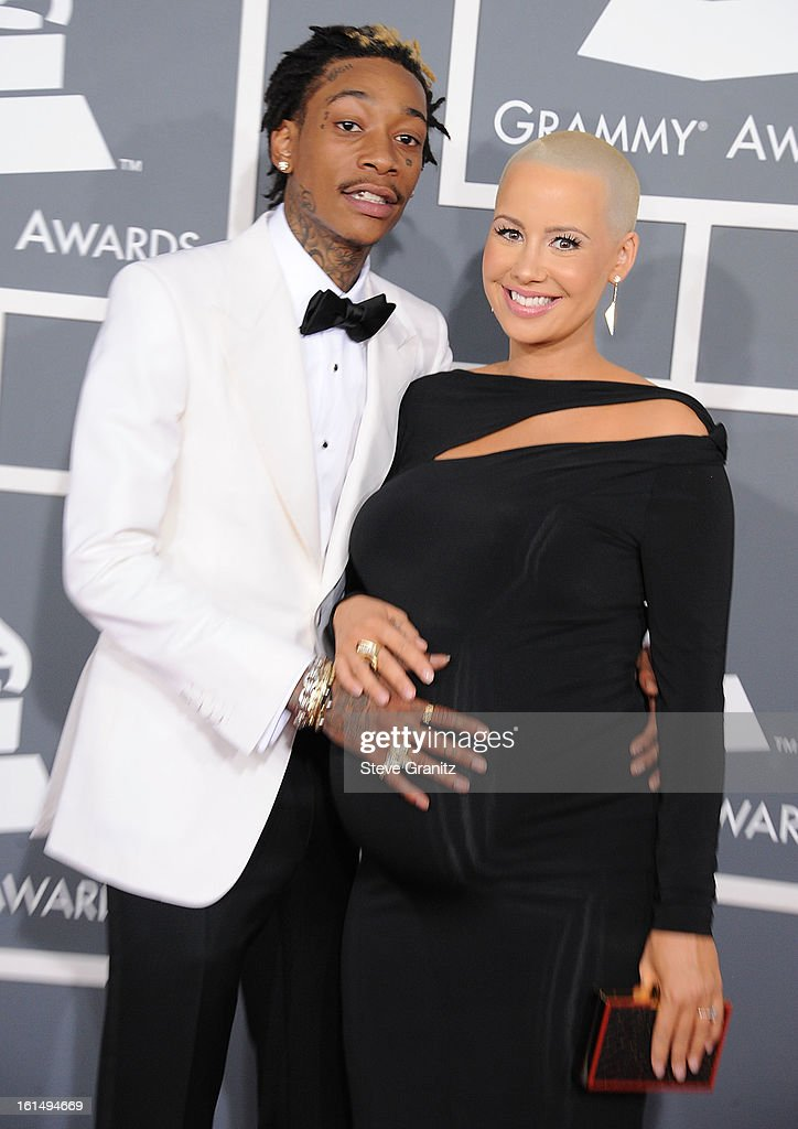 Amber Rose andWiz Khalifa arrives at the The 55th Annual GRAMMY Awards on February 10, 2013 in Los Angeles, California.