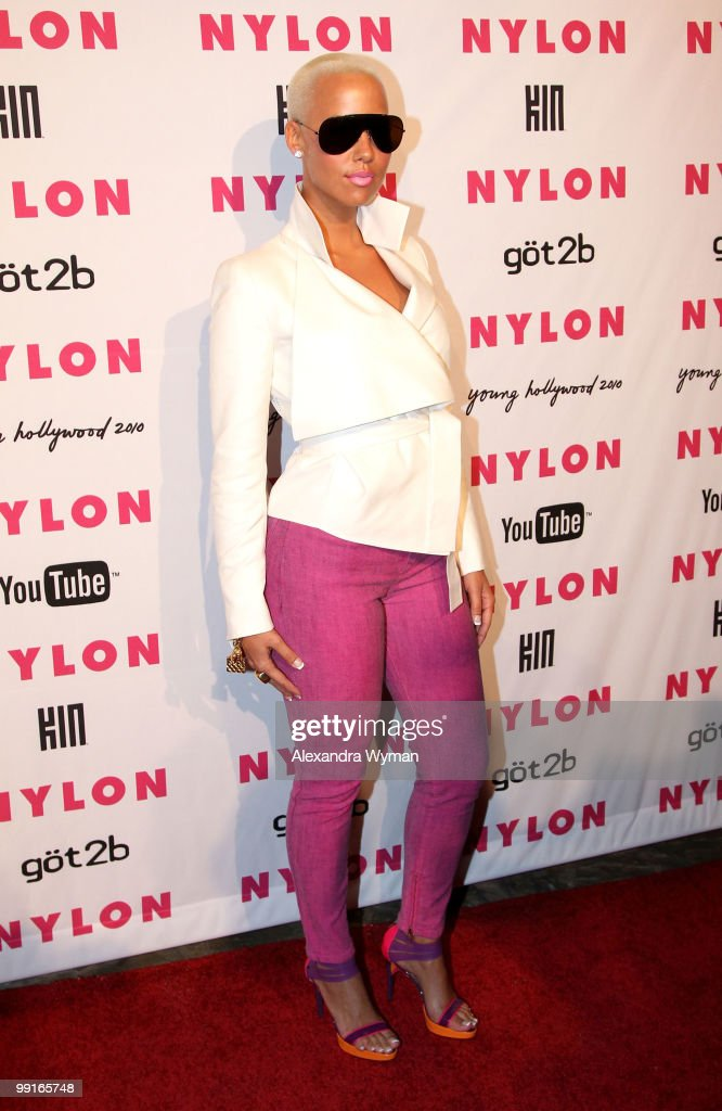 Amber Rose arrives at NYLON'S May Young Hollywood Event at Roosevelt Hotel on May 12, 2010 in Hollywood, California.