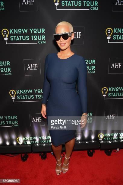 Amber Rose attends AHF Presents The Know Your Status Tour Atlanta at Clark Atlanta Univeristy on April 20 2017 in Atlanta Georgia