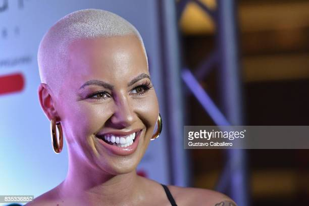 Amber Rose attends End Of Summer Party at Sugar Factory American Brasserie on August 18 2017 in Miami Florida