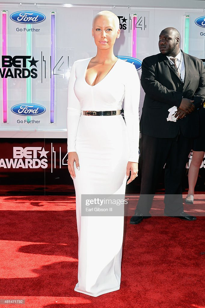 <a gi-track='captionPersonalityLinkClicked' href=/galleries/search?phrase=Amber+Rose+-+Model&family=editorial&specificpeople=2025513 ng-click='$event.stopPropagation()'>Amber Rose</a> attends the BET AWARDS '14 at Nokia Theatre L.A. LIVE on June 29, 2014 in Los Angeles, California.