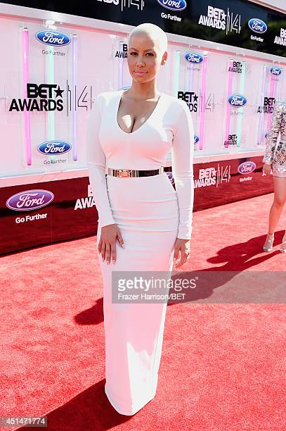 Amber Rose attends the BET AWARDS '14 at Nokia Theatre LA LIVE on June 29 2014 in Los Angeles California