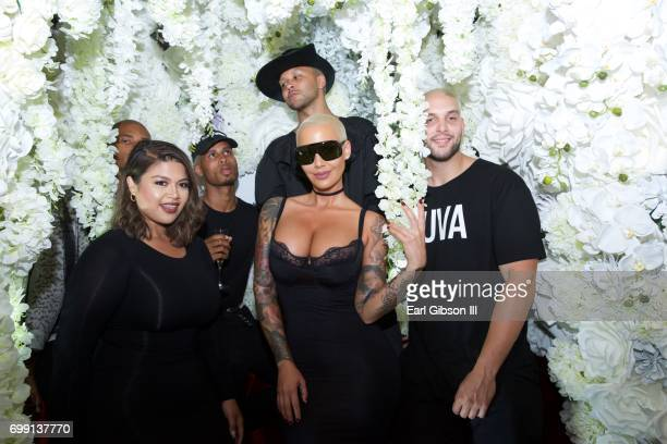 Amber Rose attends the Kat Von D Beauty Fragrance Launch Press Party #SAINTANDSINNER at Hollywood Roosevelt Hotel on June 20 2017 in Hollywood...