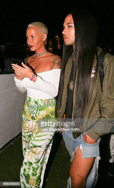 Amber Rose is seen at Coachella Valley Music and Arts Festival at The Empire Polo Club on April 10 2015 in Indio California