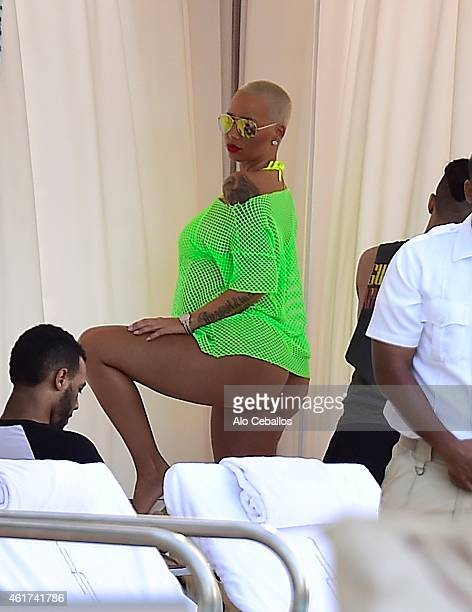 Amber Rose is seen on January 18 2015 in Miami Florida