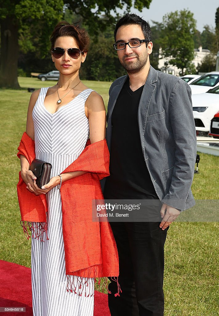 Amber Rose Revah and guest attend day one of the Audi Polo Challenge at Coworth Park on May 28, 2016 in London, England.