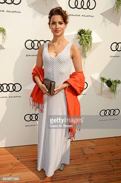 Amber Rose Revah attends day one of the Audi Polo Challenge at Coworth Park on May 28 2016 in London England