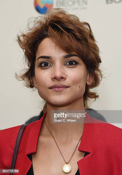 Amber Rose Revah attends Saatchi's first ever all female show to mark the Gallery's 30th Anniversary at The Saatchi Gallery on January 12 2016 in...