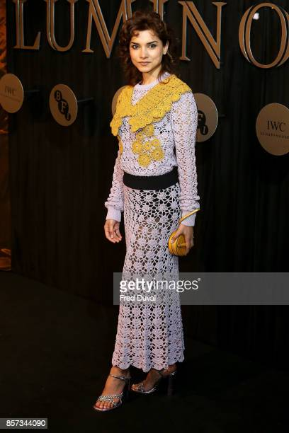 Amber Rose Revah attends the BFI Luminous Fundraising Gala at The Guildhall on October 3 2017 in London England