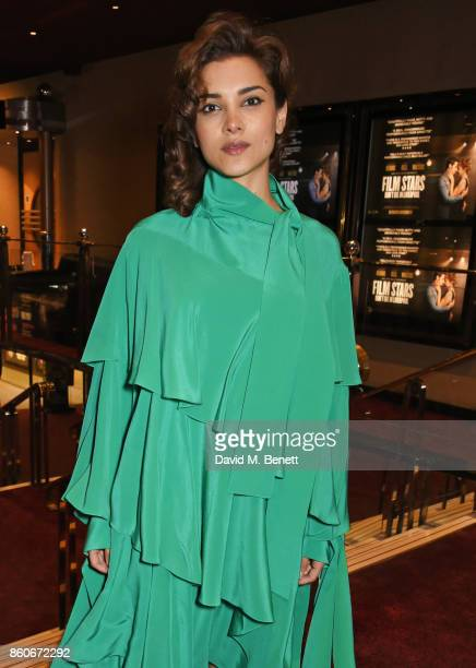 Amber Rose Revah attends the PORTER Lionsgate UK screening of 'Film Stars Don't Die In Liverpool' at Cineworld Leicester Square on October 12 2017 in...