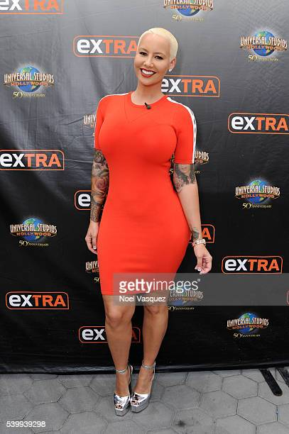Amber Rose visits 'Extra' at Universal Studios Hollywood on June 13 2016 in Universal City California