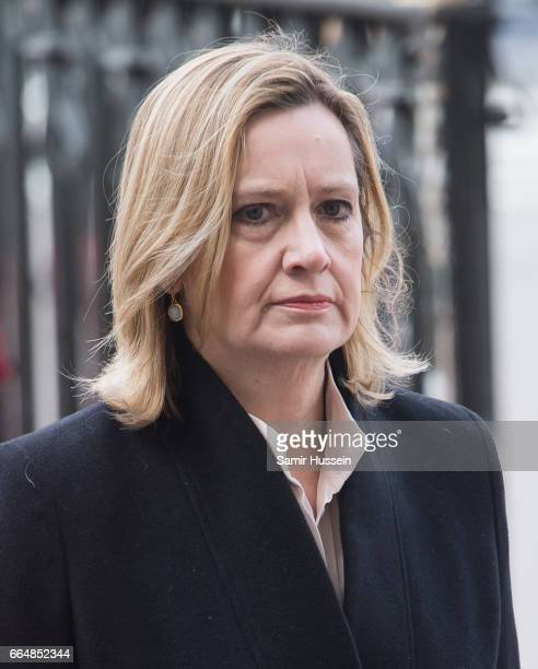 Amber Rudd attends Service of Hope at Westminster Abbey The multifaith Service of Hope was held for the four people killed when Khalid Masood...