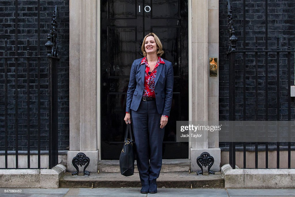 Amber Rudd leaves Downing Street after being appointed Home Secretary on July 13, 2016 in London, England. The UK's New Prime Minister Theresa May began appointing the key Ministerial positions in her cabinet shortly after taking up residence at Number 10 Downing Street. She has appointed Philip Hammond as Chancellor and George Osborne has resigned.