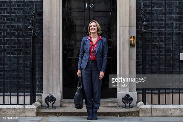 Amber Rudd leaves Downing Street after being appointed Home Secretary on July 13 2016 in London England The UK's New Prime Minister Theresa May began...