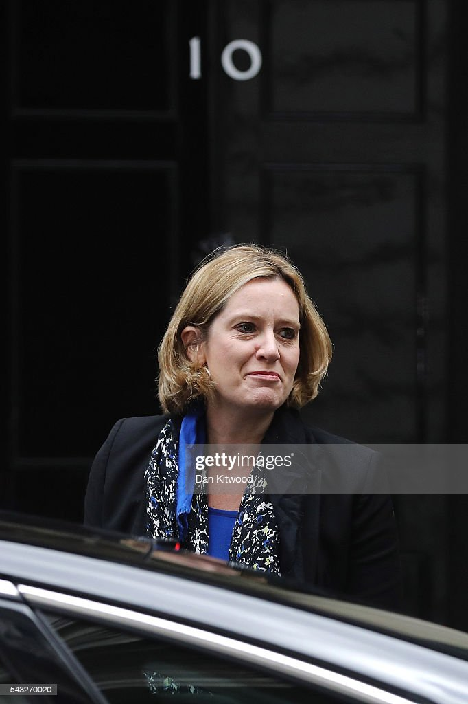 <a gi-track='captionPersonalityLinkClicked' href=/galleries/search?phrase=Amber+Rudd&family=editorial&specificpeople=10586362 ng-click='$event.stopPropagation()'>Amber Rudd</a>, Secretary of State for Energy and Climate Change arrives for a cabinet meeting at Downing Street on June 27, 2016 in London, England. British Prime Minister David Cameron is due to chair an emergency Cabinet meeting this morning, after Britain voted to leave the European Union. Chancellor George Osborne spoke at a press conference ahead of the start of financial trading and outlining how the Government will 'protect the national interest' after the UK voted to leave the EU.