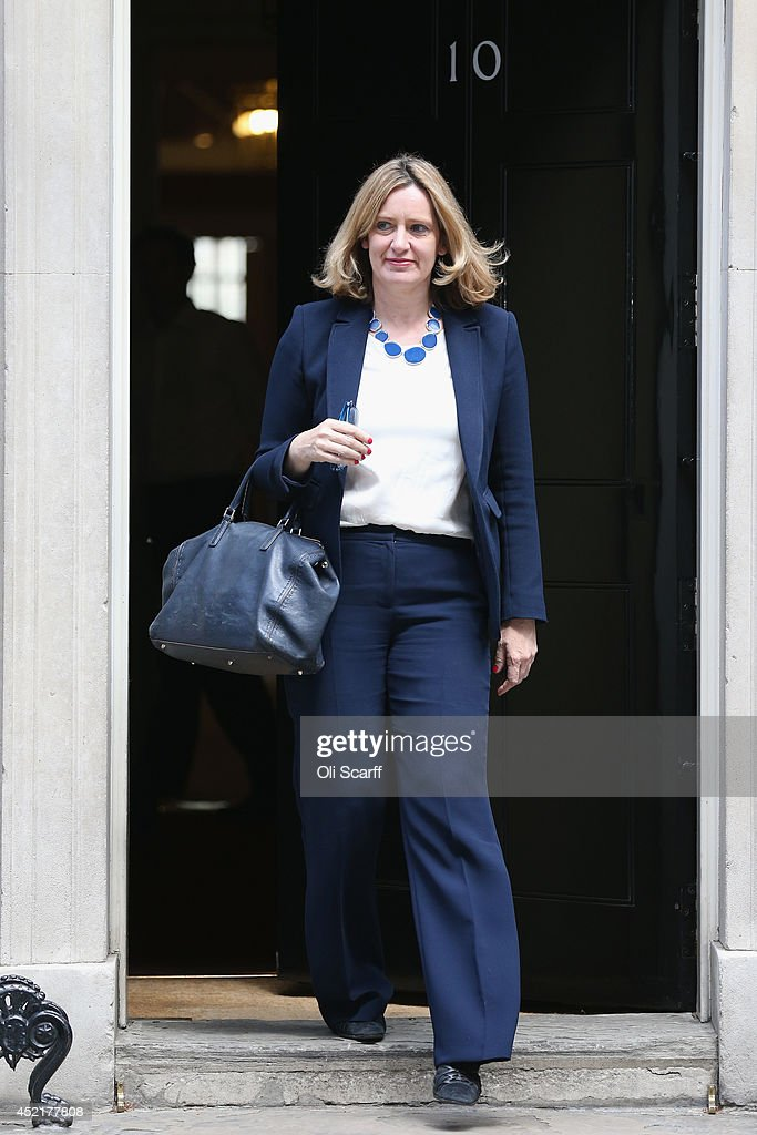 Amber Rudd, the new Junior Minister at the Department of Energy and Climate Change departs Downing Street on July 15, 2014 in London, England. British Prime Minister David Cameron is conducting a reshuffle of his Cabinet team with a greater number of women expected to be appointed to senior positions.