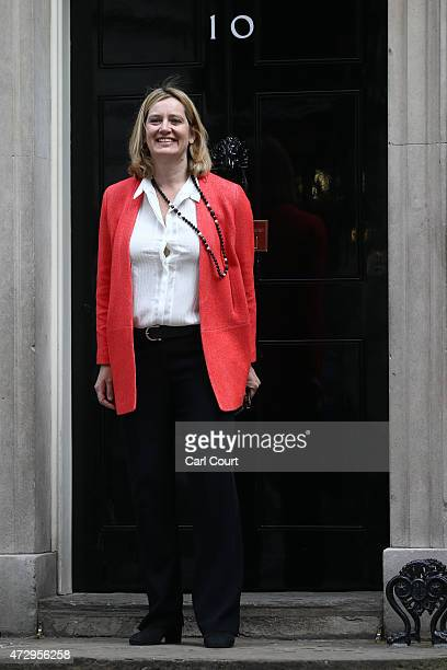 Amber Rudd the newly appointed Energy and Climate Change Secretary arrives at Downing Street on May 11 2015 in London England Prime Minister David...