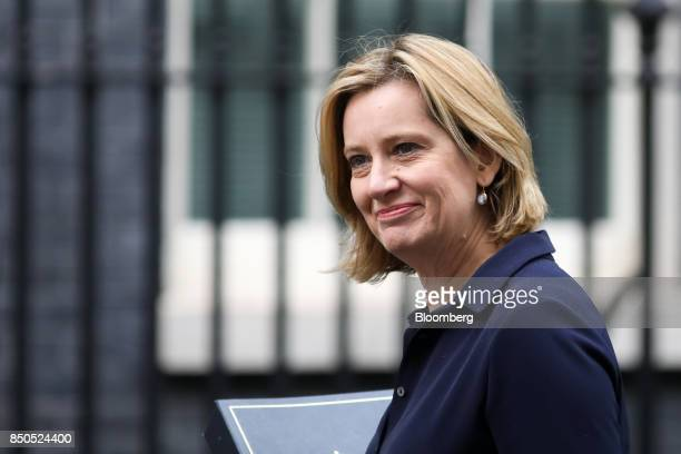 Amber Rudd UK home secretary arrives for a special cabinet meeting at number 10 Downing Street in London UK on Thursday Sept 21 2017 UK Prime...