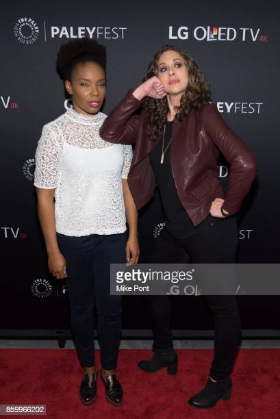 Amber Ruffin and Jenny Hagel attend 'Late Night With Seth Meyers' during PaleyFest NY 2017 at The Paley Center for Media on October 10 2017 in New...