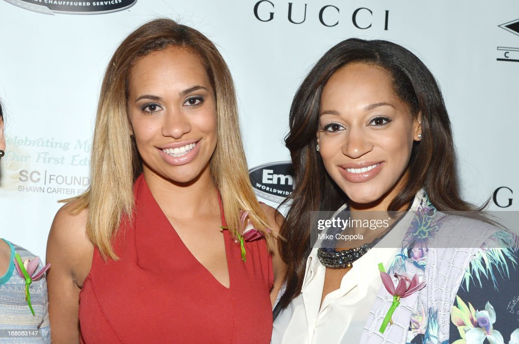 Amber Sabathia (L) and Alexis Stoudemire attend the Shawn Carter Foundation's Mother's Day event 'Celebrating Mothers, Our First Educators' at 40 / 40 Club on May 11, 2013 in New York City.