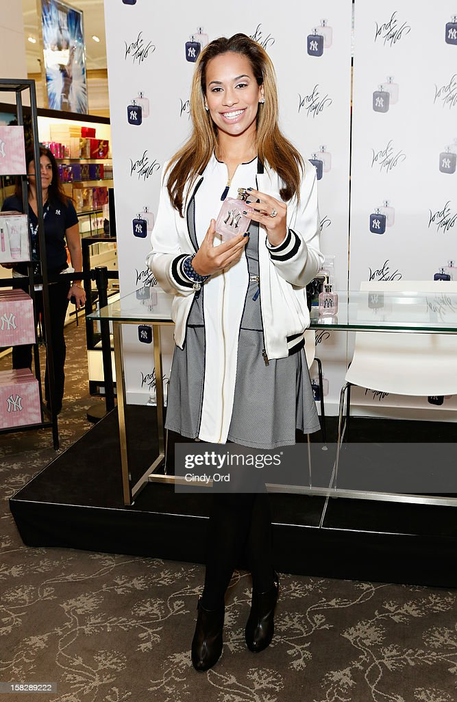 Amber Sabathia attends the CC And Amber Sabathia 'New York Yankees' Fragrance Event at Lord And Taylor on December 12, 2012 in New York City.