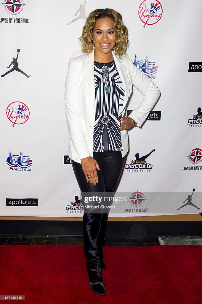 Amber Sabathia attends the PitCCh In Foundation 2013 Challenge Rules Party at Luxe at Lucky Strike Lanes on November 8, 2013 in New York City.
